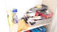 Shelf And Contents  With Wd 40, Finish Dish