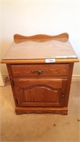 Oak Nightstand Matches To Lot 1082