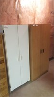 Lot of 2 storage cabinets