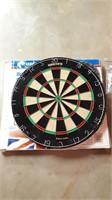 Unicorn bristle dartboard with darts and dart
