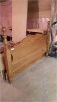 Wooden Headboard, Footboard, And Rails