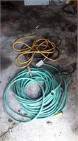 Garden Hose And 2 Extension Cords