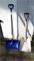 Snow Shovel And Metal Shovel