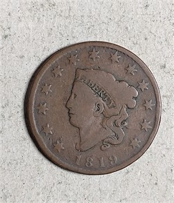 Awe Inspiring Us Mint 1819 Coronet Large Cent Zum Verkaufen 1 Gmtry Best Dining Table And Chair Ideas Images Gmtryco