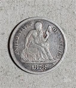 Us Mint 1878 Seated Liberty Dime Zum Verkaufen 1