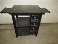 """Rolling Towel Cart with Drawers 32""""W x 40""""H x 23""""D"""