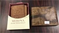 Pierre Cardin leather wallet & Merona leather
