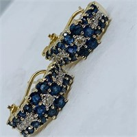 14KT YELLOW GOLG 2.00CTS SAPPHIRE & .20CTS DIA.