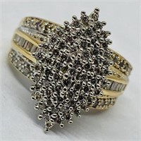 14KT YELLOW GOLD 4.00CTS DIAMOND RING