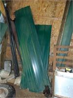 Assorted Green Metal Roofing