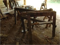 Wooden Saw Horses + Shovel