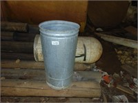 Galvanized Trash Can + Bullet Trash Can