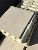 White Marble, 36x24x1 inches, 12x12x.5 inches