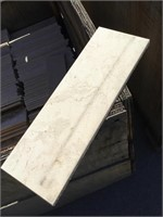 White Marble, 4.5x12 inches, 36x17x1 approximately