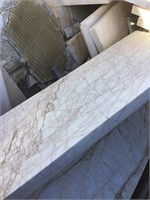 White Marble cut, 6x24 inches, 25x3 inches
