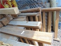 Assorted Deck Boards + Posts