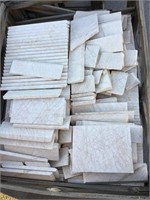 White Marble mostly is 8x16 inches, mixed sizes