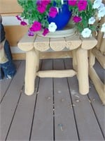 Wood Timber Love Seat + (2) Side Tables