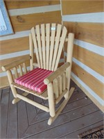 Wide Log Timber Rocking Chair
