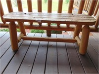 Log Timber Bench