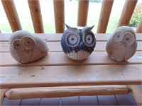 (3) Owl Decor + Wind Chime