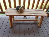 Log Timber Bench