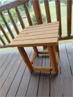 Log Timber Love Seat + (2) Side Tables