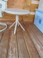 Outside Swivel Chair + Side Table