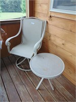 Outside Swivel Chair + Side Table
