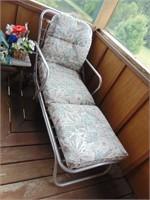 Vintage Aluminum Chaise Lounge Chair