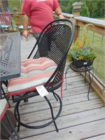 High Top Table w/ Umbrella & Chairs