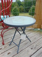 Metal Chair + Side Table