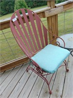 Metal Chair + Side Table