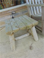 Love Seat Glider + Log Timber Table