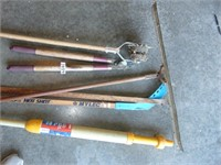 Spa Vacuum, Loppers, + Squeegee