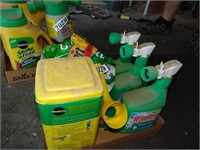 Assorted Plant Food, Outdoor Cleaner, + Windex