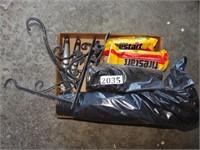 Trash Bags, Garden Hooks, + Fire Starter