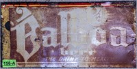 Vintage Metal Balboa Beer Sign