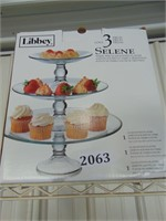 (Like New) Libbey 3-Tier Food Platter