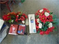 Christmas Solar Yard Lights + Flowers