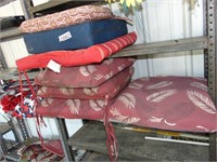 (4) Red & White Leaf Seat Covers + (3) Others