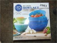 (Like New) 10 Piece Melamine Bowl Set
