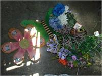 Burlap Decor + Flowers