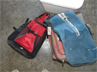 Cooler Bag, Backpack, + Styrofoam Cooler
