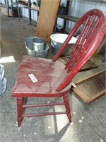 Child's Red Wooden Chair