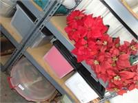 Wreath Container + Poinsettias