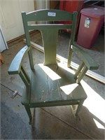 Vintage Green Wooden Rocking Chair