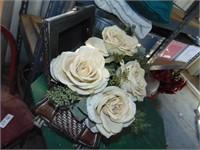 Floral Decoration, Planter, Pillow, + Blanket