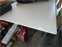 Folding Crafting Table on Wheels