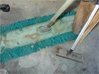 Dust Mop, Shovel, Dowel Rods, + Squeegee